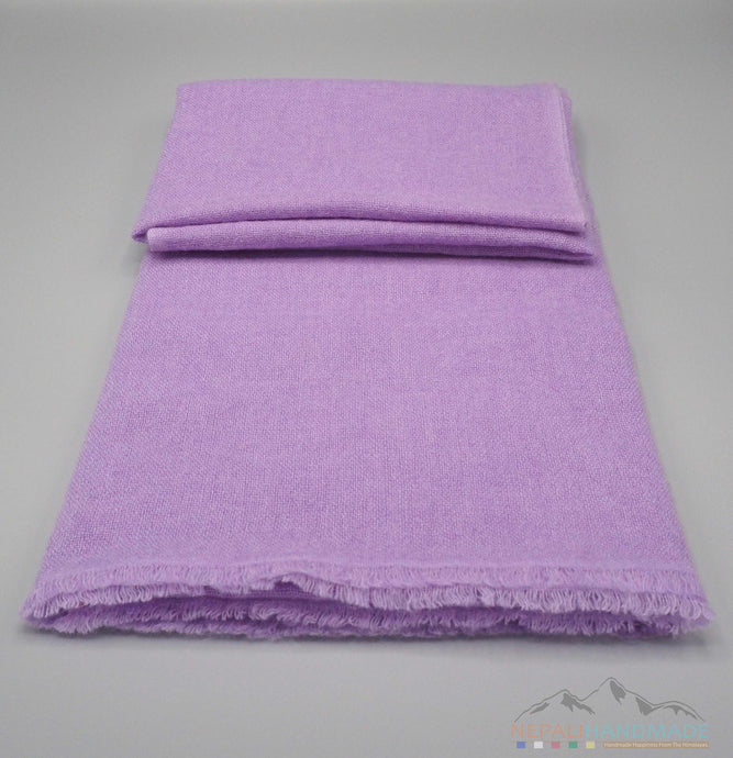 100% Cashmere Medium Purple Pashmina Shawl/Scarf