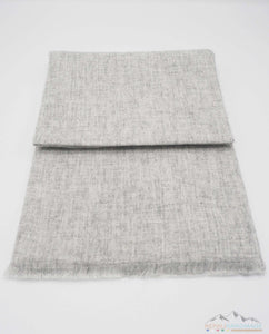 100% Cashmere Light Grainy Gray Pashmina Shawl/Scarf