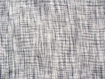 Grey and white soft cotton stitch detail fabric