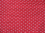 Red and white cross stitch detail soft cotton gauze fabric for Caftans