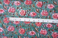 Chintz Floral Pattern hand block printed fabric Sold by Yard