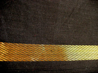 Black and Gold Zari Border Handwoven Cotton Fabric Sold by Yard