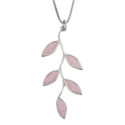 925 Sterling Silver Olive Leaf Necklace Pendant