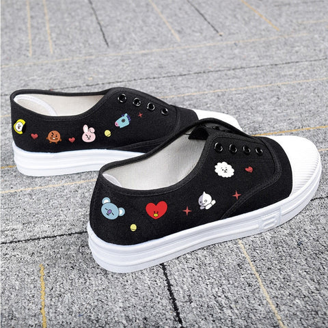 New BT21 Canvas Shoes