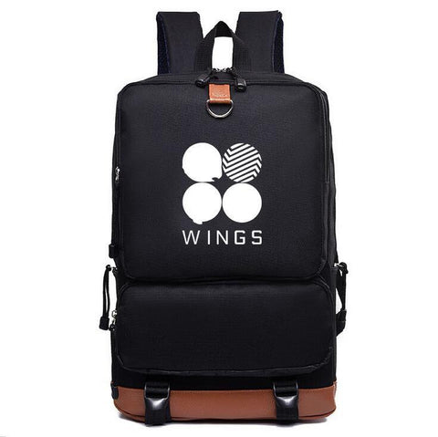BTS Wings Style Canvas Backpack - BTS Merch | Premium BTS merchandise
