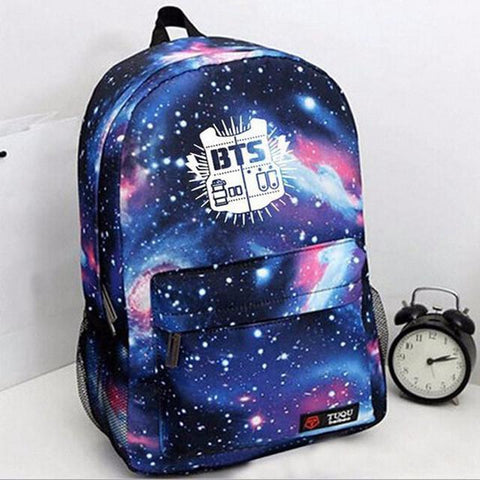 BTS Galaxy Printed Backpacks - BTS Merch | Premium BTS merchandise