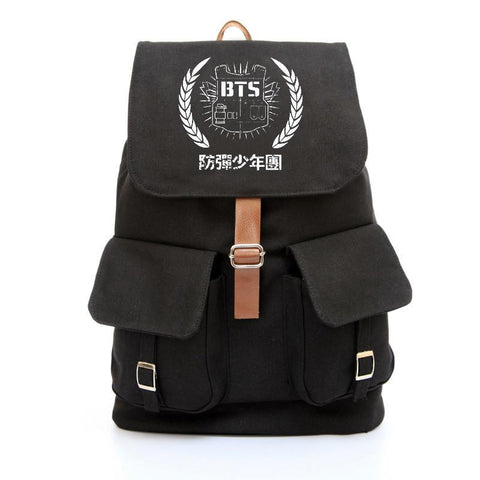 BTS Emblem Canvas Backpack - BTS Merch | Premium BTS merchandise