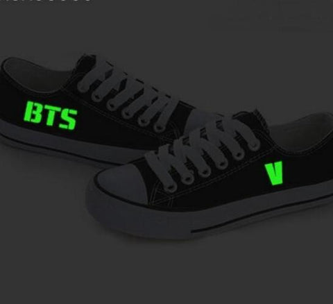 BTS GLOW IN DARK Canvas Unisex SNEAKERS - BTS Merch