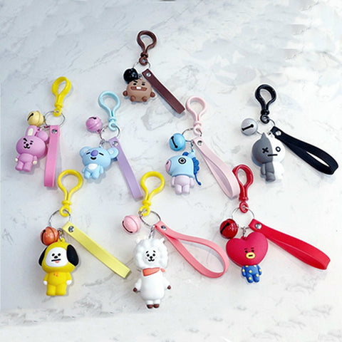 BT21 Cute Keychains/Bag Pendant
