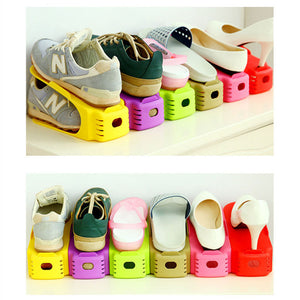 Shoe Stacker - The Adjustable Shoe Rack Space Saver