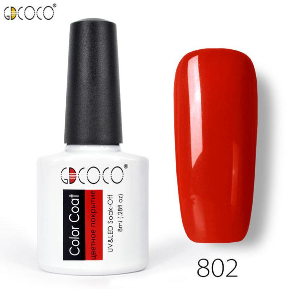 Esmalte de unhas de gel UV polonês gel laca verniz gdcoco piant venalisa 30 cores embeber off gel da arte do prego diy uv levou 8 ml-Electro Shop