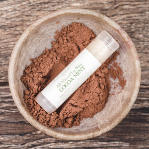Cocoa Mint natural flavored moisturizing lip balm from Willow & Birch Apothecary