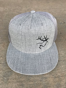 Flat Brim- Heather Grey