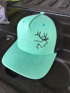 Seafoam Green/Black Hat