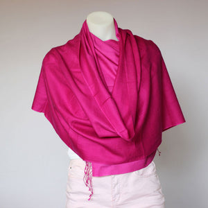 Shaded Pashmina Scarf Bright Pink