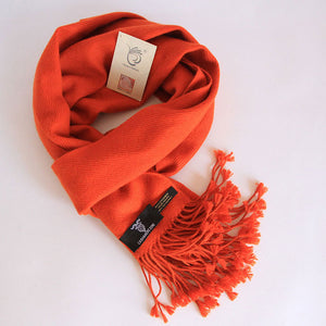 Crimson Red Pure Cashmere Scarf