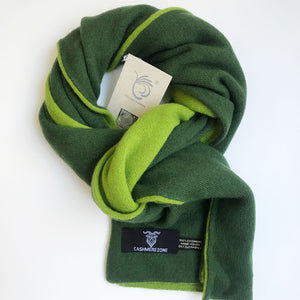 field green reversible cashmere screen