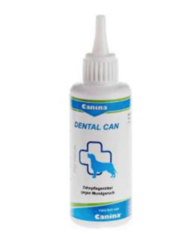 Dental care for dogs against unpleasant mouth odour and removes stain residue