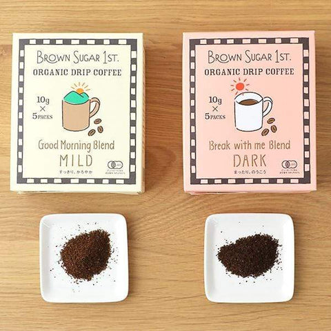 Image of Brown Sugar 1st Organic Drip Coffee BS1ST.有機オーガニックドリップコーヒー Food Good Morning Blend MILD Tokyo Direct