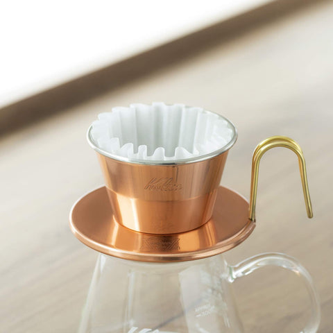Image of Kalita Coffee Filter Wave White (50 filters x 3boxes) KWF-185#22210 カリタ コーヒーフィルター ウェーブシリーズ 50枚入り×3個セット ホワイト Kitchen Tokyo Direct
