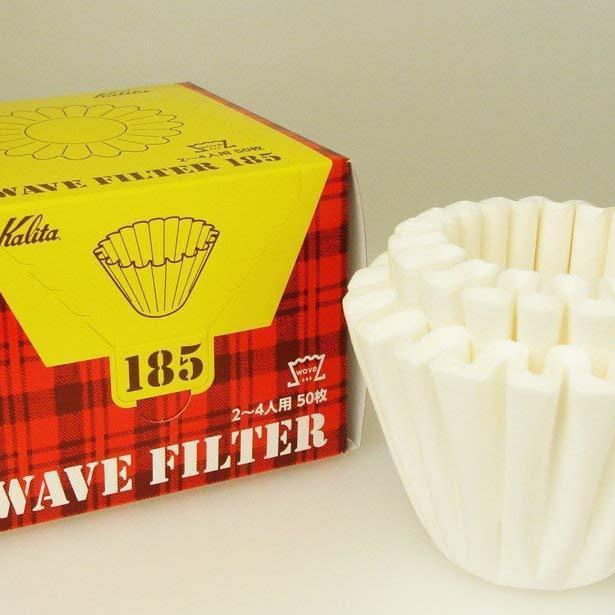 Kalita Coffee Filter Wave White (50 filters x 3boxes) KWF-185#22210 カリタ コーヒーフィルター ウェーブシリーズ 50枚入り×3個セット ホワイト Kitchen Tokyo Direct