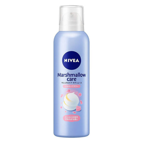 Image of Nivea Marshmallow Care Body Mousse (Japan Limited) ニベア マシュマロケアボディムース Life Silky Flower Tokyo Direct