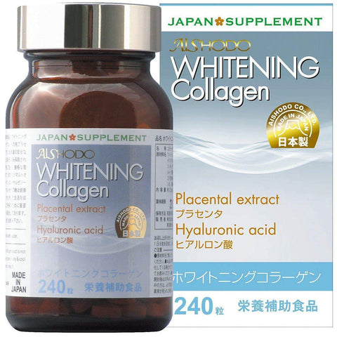 Image of Whitening Collagen Placenta, Hyaluronic Acids & Royal Jelly Supplement (240 tablets) Whitening Collagen 240粒 プラセンタ / ヒアルロン酸 / ローヤルゼリー配合 サプリメント Life Tokyo Direct