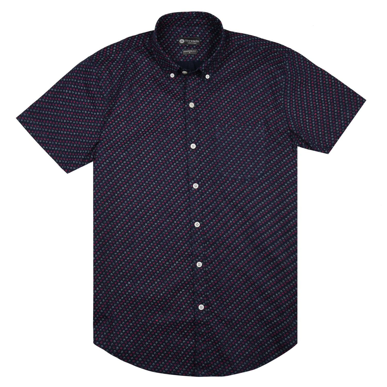 Navy Brushed Short Sleeve Shirt