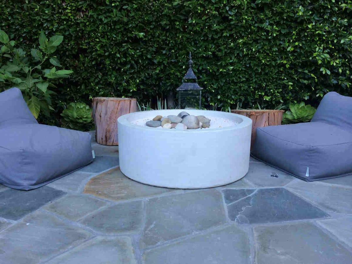 Cylinder Fire bowl contemporary design