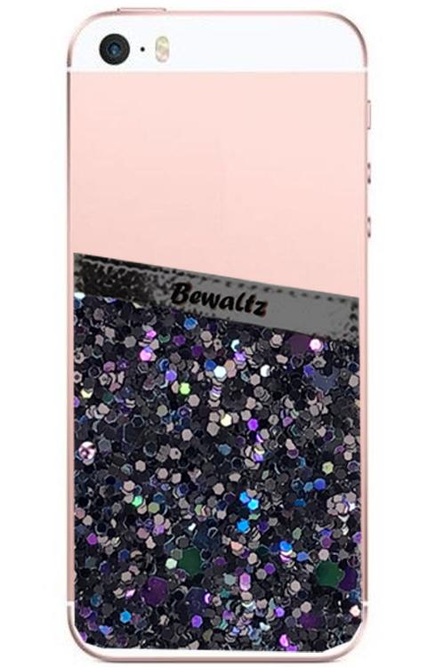 Phone Pocket Black Glitter