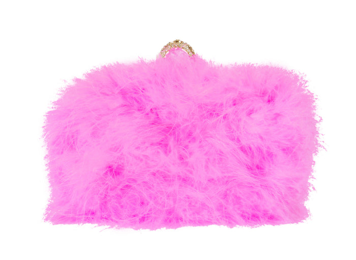 Furry Clutch - Hot Pink