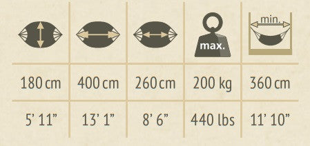 family size hammock dimensions