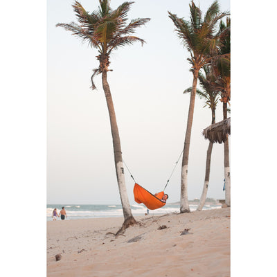 orange parachute silk travel hammock