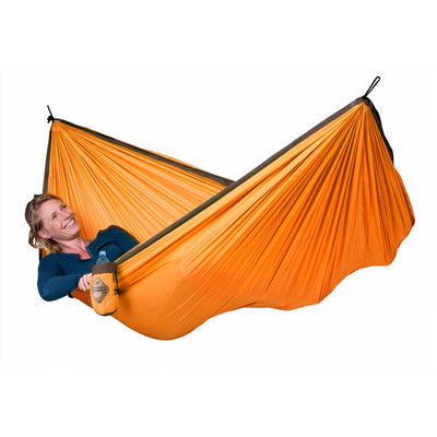 orange travel hammock