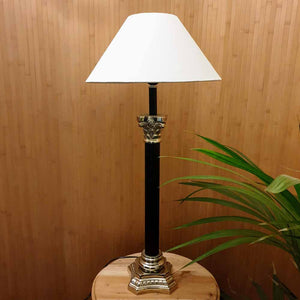 Tall Black Candlestick Plinth Lamp Base H67cm Simply Roka