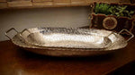 Long Silver Metal Decorative Tray - Small Simply Roka