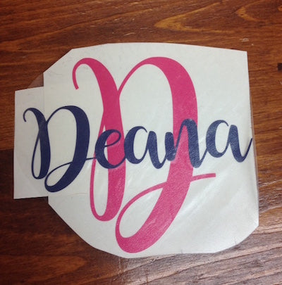 Initial/Name decal - Sew Cute By Katie