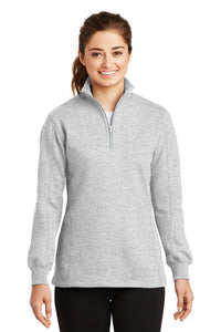 Monogrammed 1/4 zip light gray sweatshirt - Sew Cute By Katie
