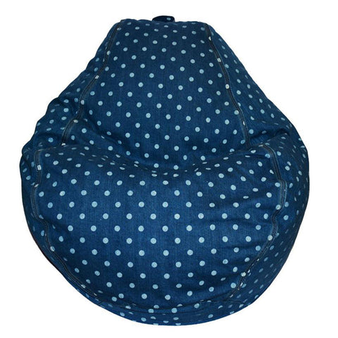 Adult Pear, Dottie Denim Beanbag