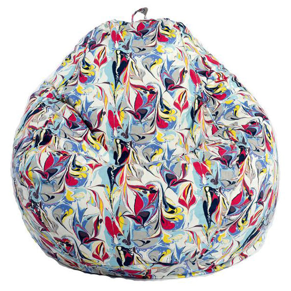 Adult Pear, Twill, Marble Print Beanbag
