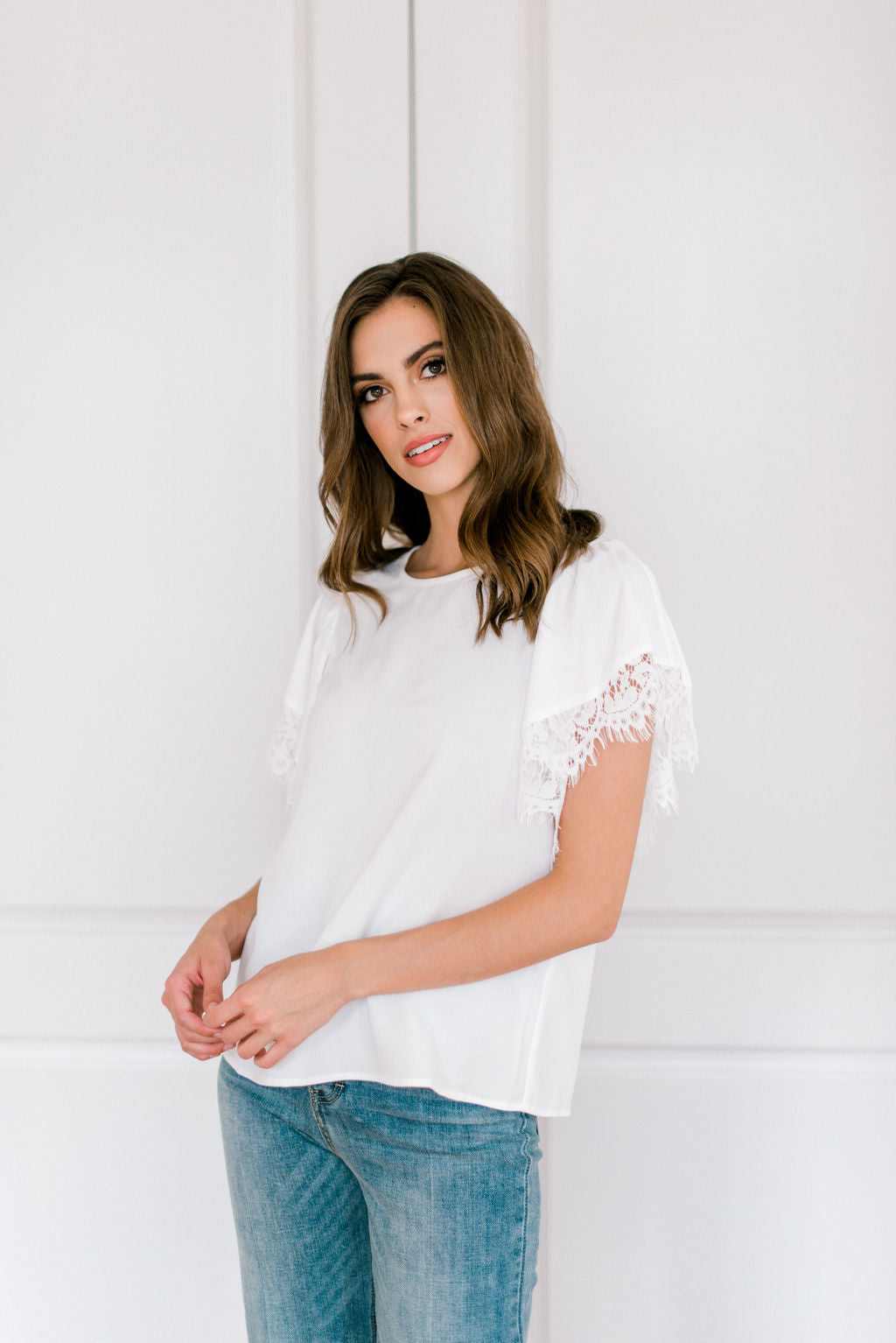 Only You Lace Sleeve Top