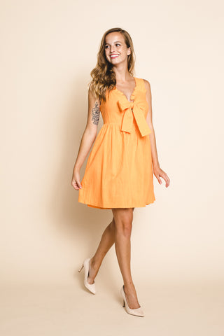Sunflower Bell Sleeve Mini Dress