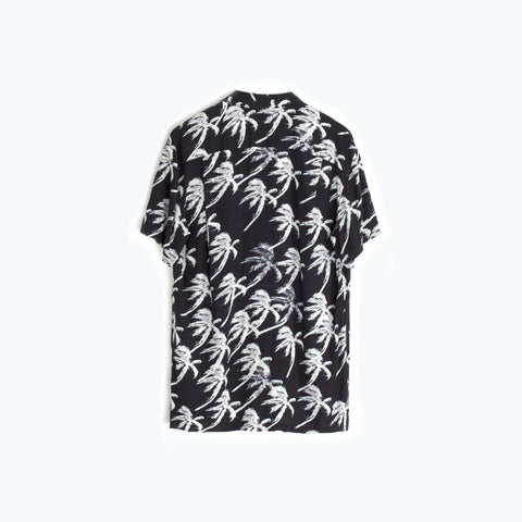 BLOW OUT BLACK HAWAIIAN SHIRT