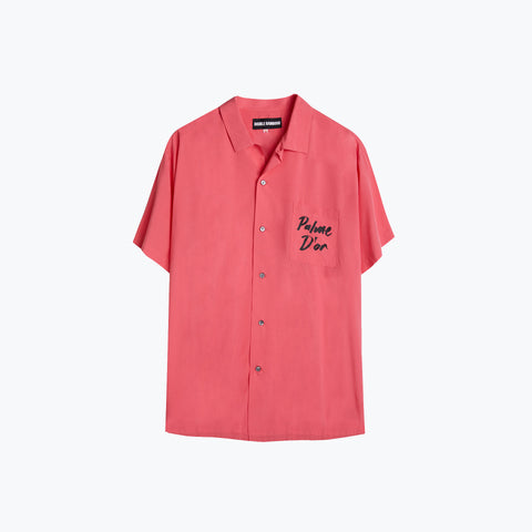 LOGO PALM PINK HAWAIIAN SHIRT