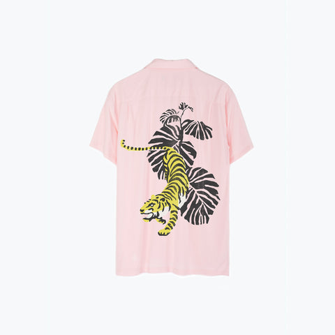 PINK TIGER HAWAIIAN SHIRT
