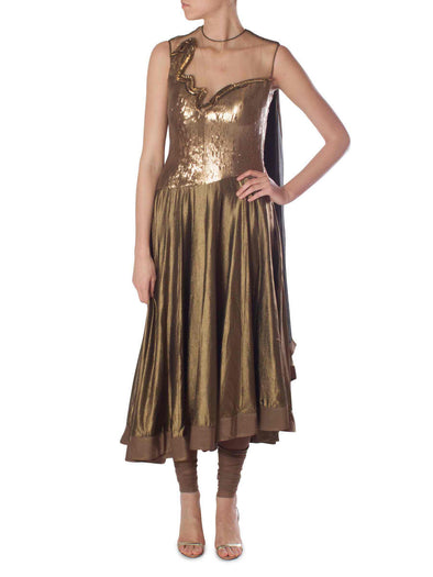 Gaurav Gupta gold anarkali
