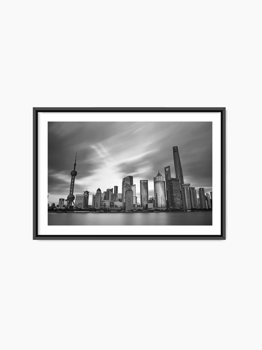 Black & White City Poster