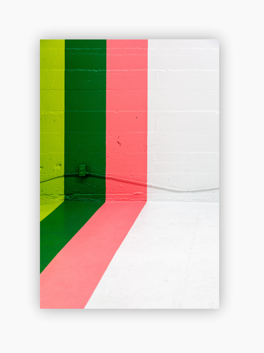 Green & Pink Stripes Poster