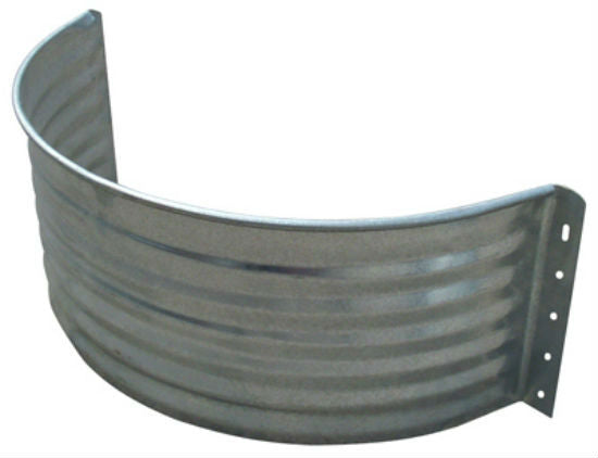 Tiger Brand™ AW-24R Round Area Wall, Galvanized Steel, 24""