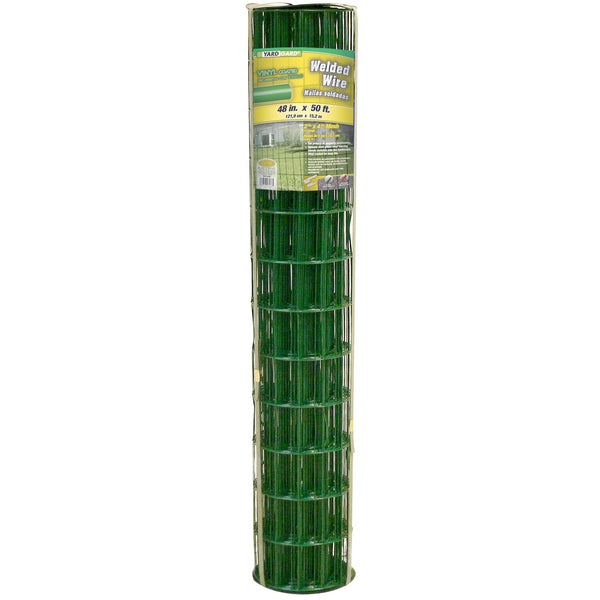 "YardGard® 308358A Green Vinyl Coated Welded Wire Fence, 14-Gauge, 48"" x 50'"